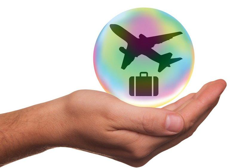 fond d ecran valise et avion