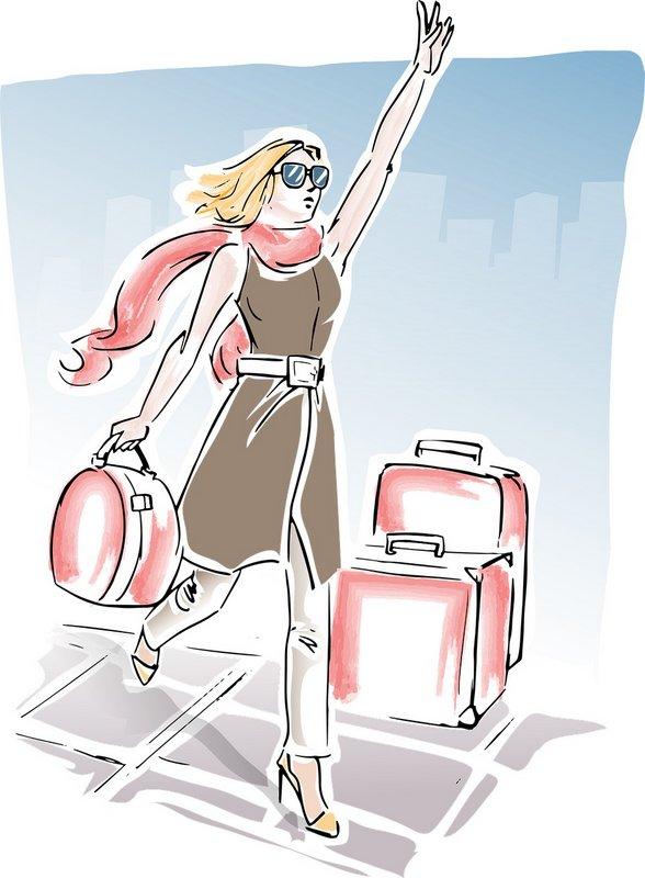 jeune fille valise