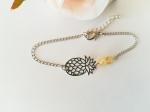 ananas-bracelet-metla-pierres-naturelles-citrine