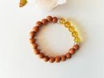 bracelet-femme-citrine-bois-santal