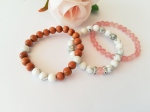 trio-bracelets-perte-poids-quartz-cerise-howlite-bois-santal